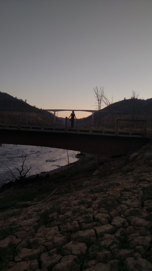 Sunset on the Old Parrotts Ferry Bridge