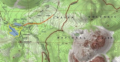 Manzanita Area Winter Map