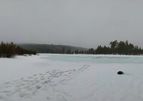 Manzanita Lake, Winter in Lassen National Park