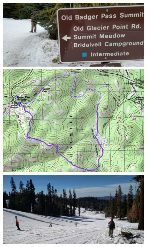 Snowshoe Backpack Map - Westfall Meadow, Yosemite National Parl