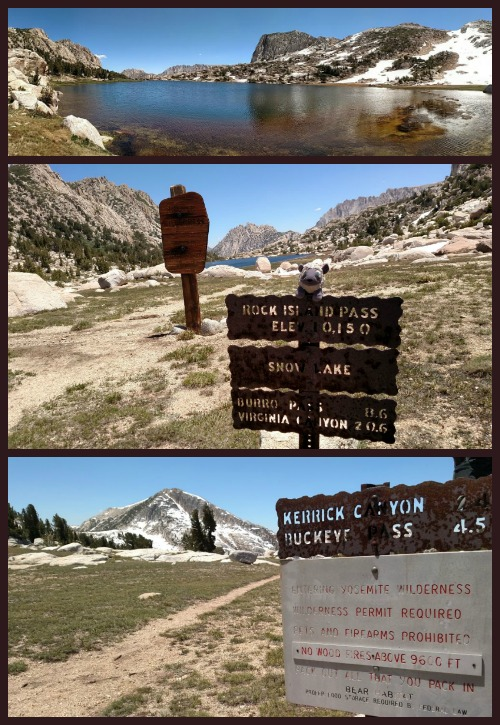 Snow Lake and Rockbound Pass at the Yosemite and Hoover Wilderness boundaries