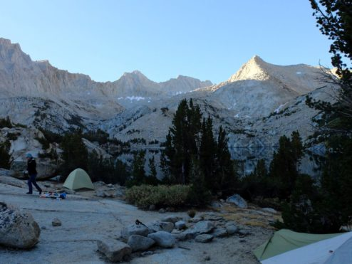 Camp at Baboon Lake, John Muir Wilderness