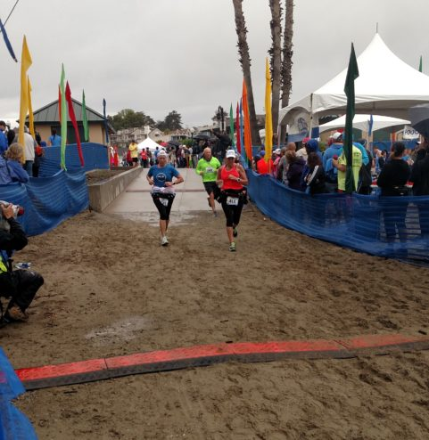 Finish Line at Santa Cruz Half Marathon