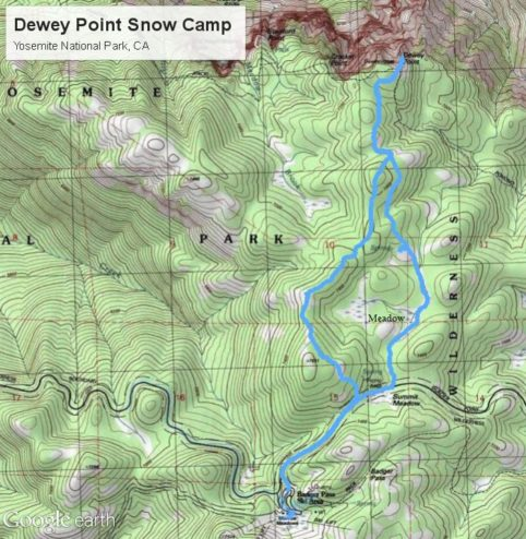 Dewey Point Snowshoe Topo Map