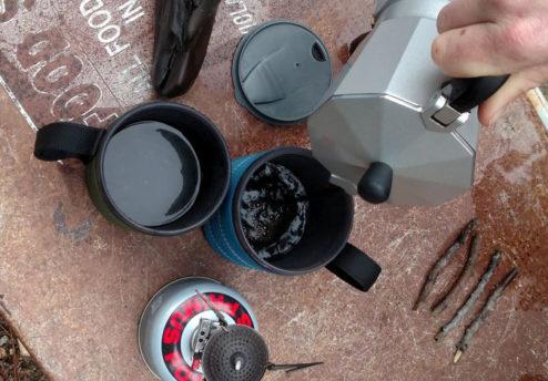 Moka Coffee at Camp