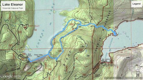 Lake Eleanor Yosemite Topo Map